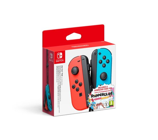 Nintendo Joy-Con Controller Paar Rood_Blauw + Snipperclip Switch