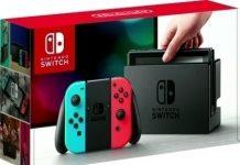 nintendo switch console rood blauw