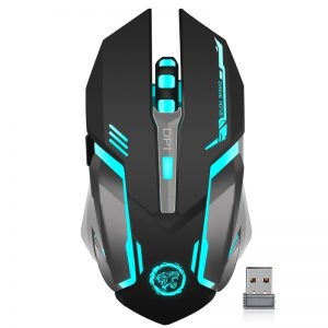 Ergonomische Gaming Mouse draadloos led